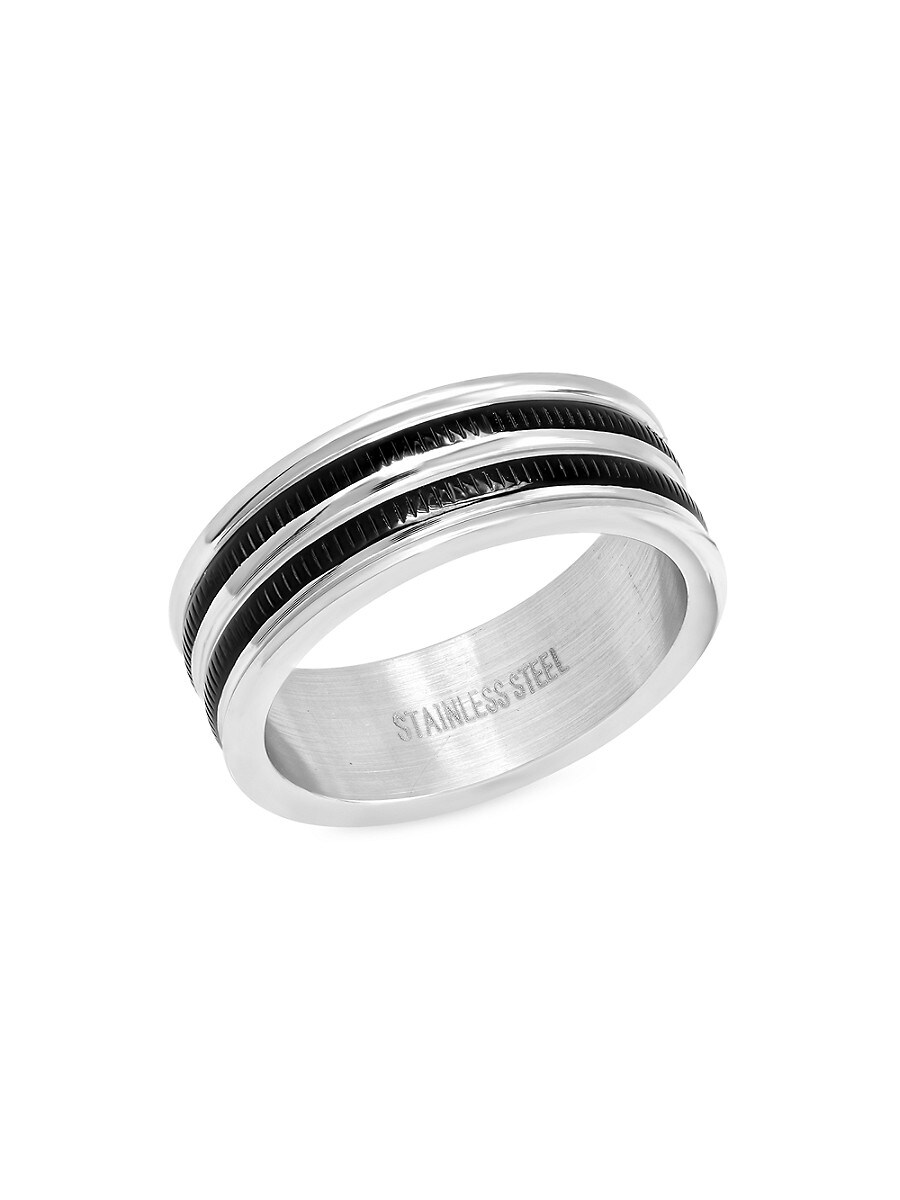 Men's Two-Tone Stainless Steel Ring
