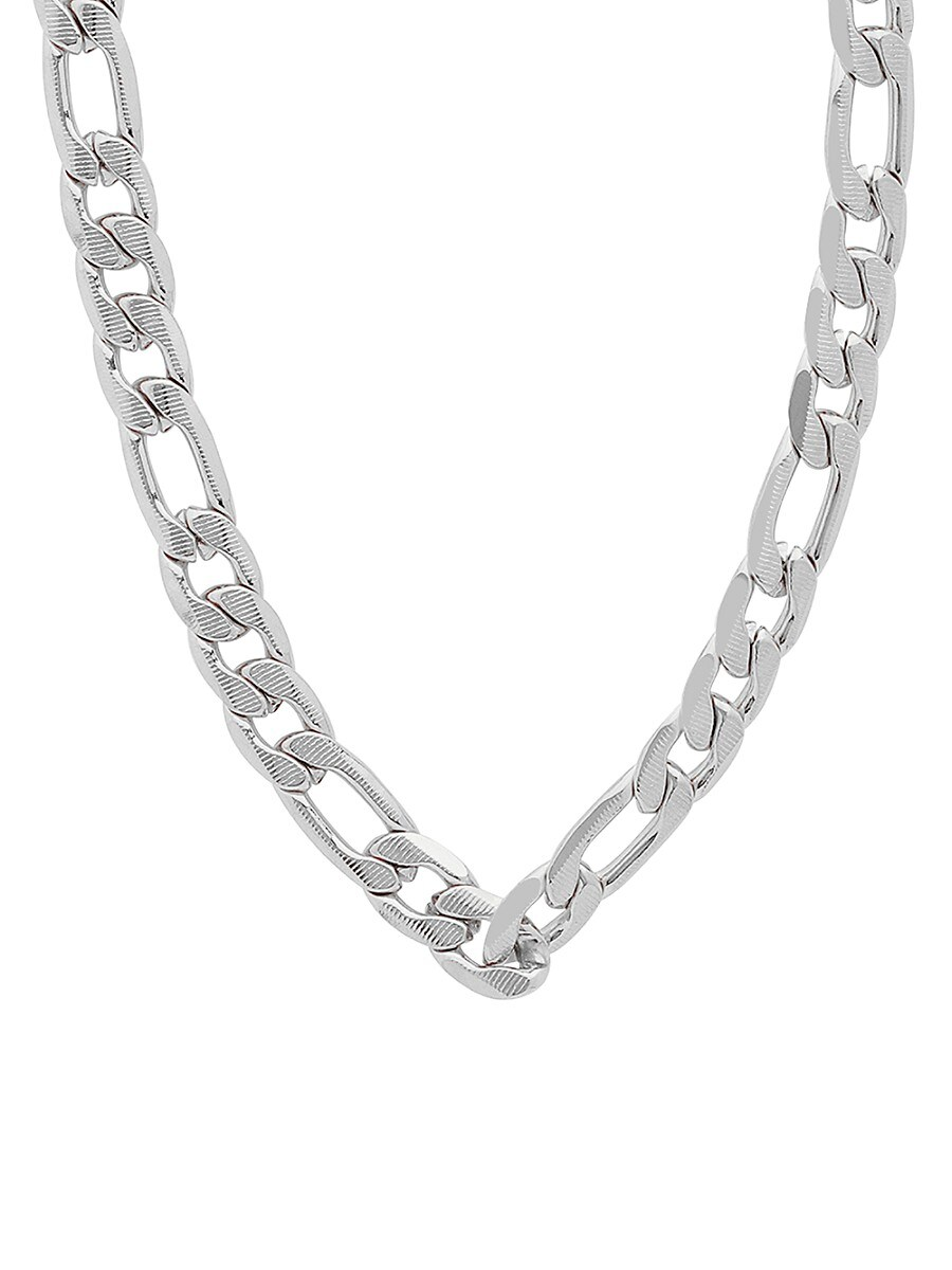 Men's Stainless Steel Figaro-Link Necklace