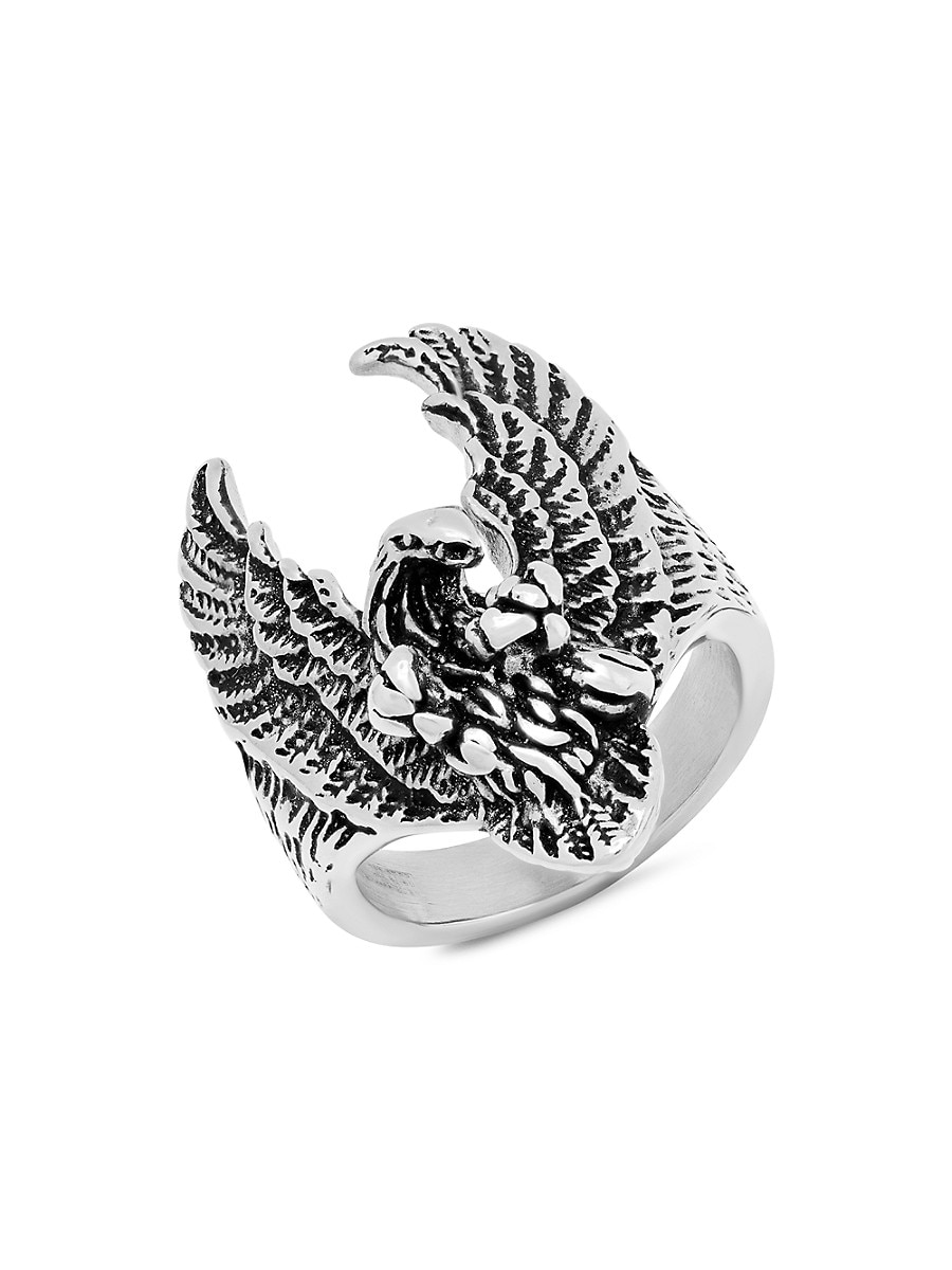 Men's Two-Tone Stainless Steel Eagle Ring