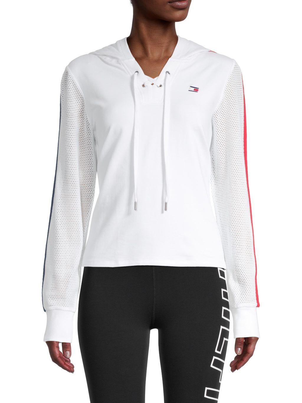 Tommy Hilfiger Sport Spring Mesh Hooded Sweatshirt