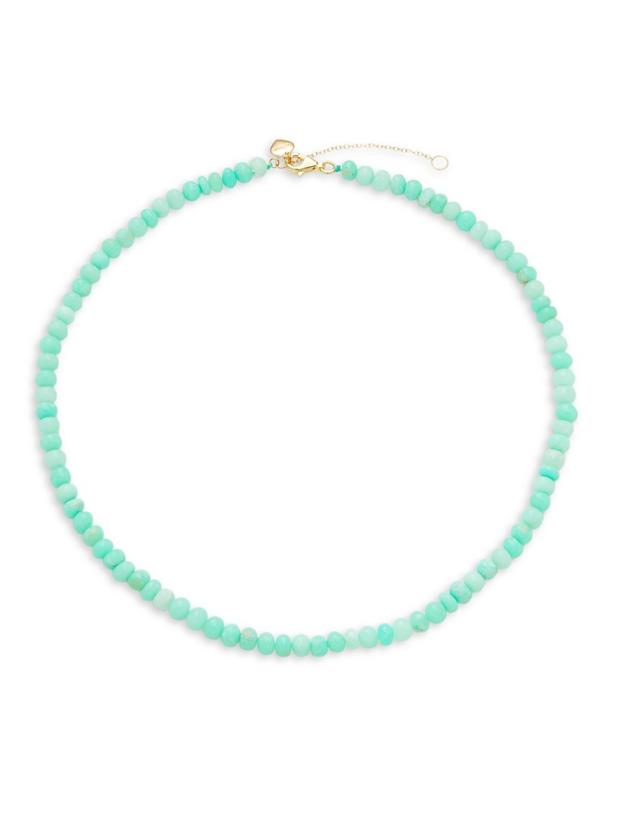 Women's Goldplated Sterling Silver & Chrysophase Necklace