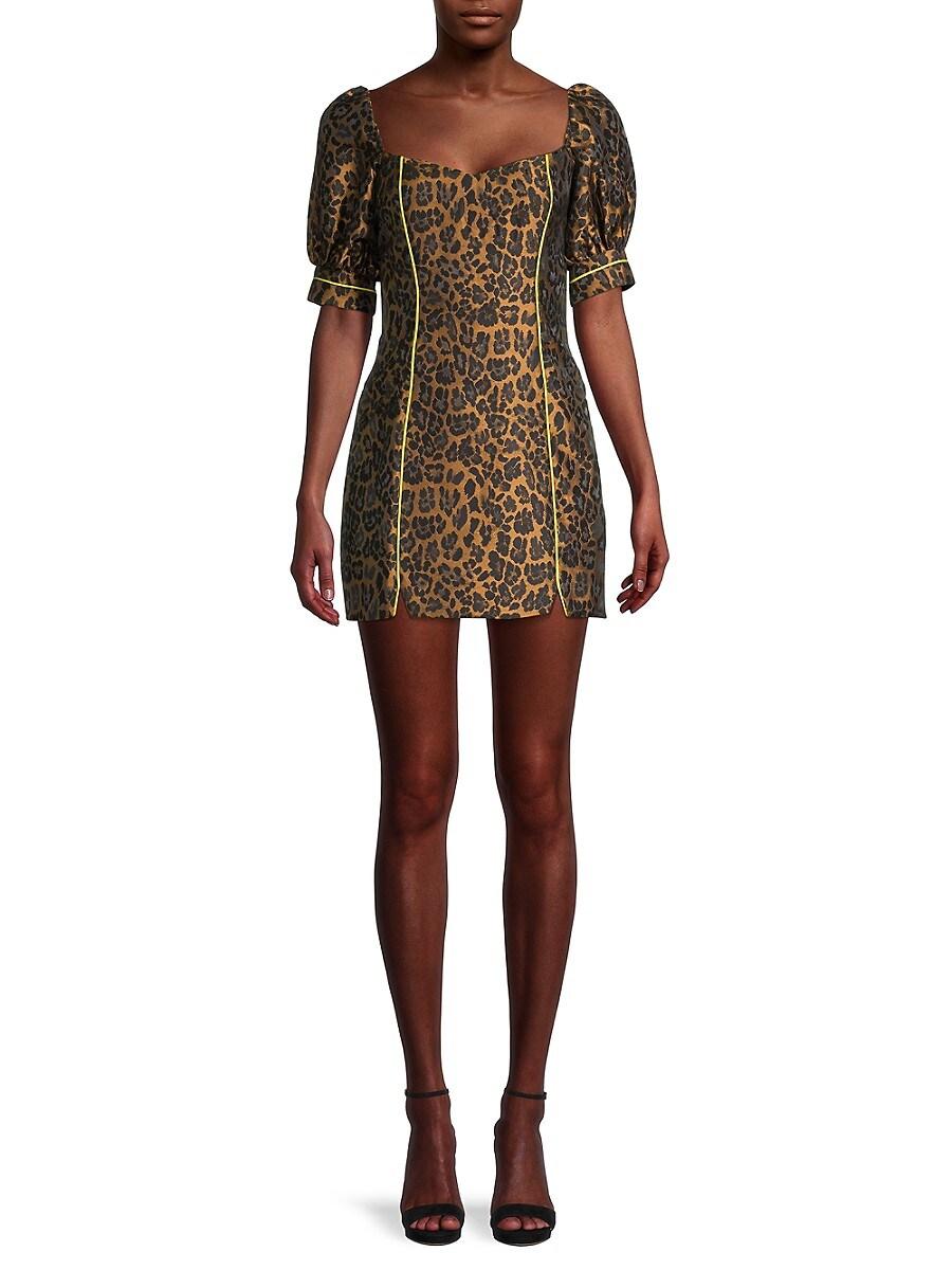 Women's Jett Leopard-Print Mini Dress