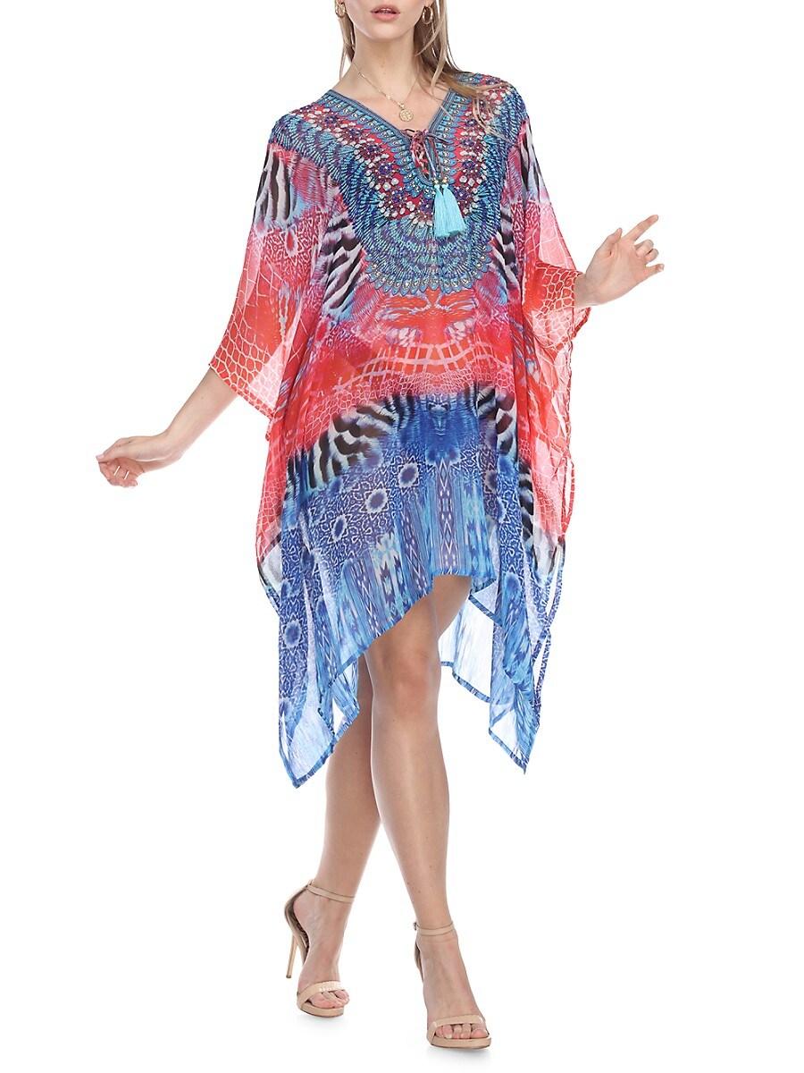 Women's Multiprint Embellished Caftan
