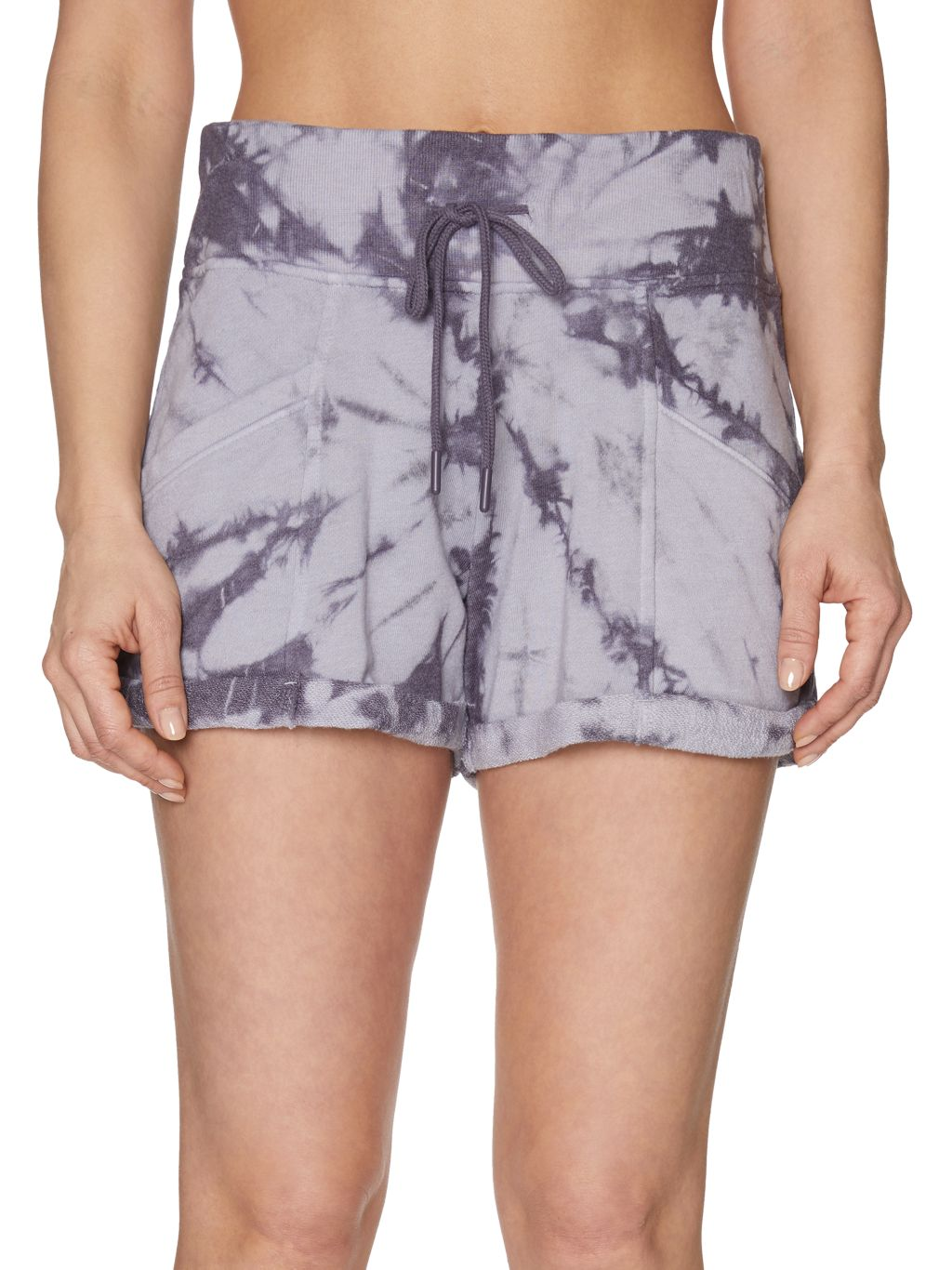 Betsey Johnson Performance Tie-Dyed Cotton-Blend Shorts