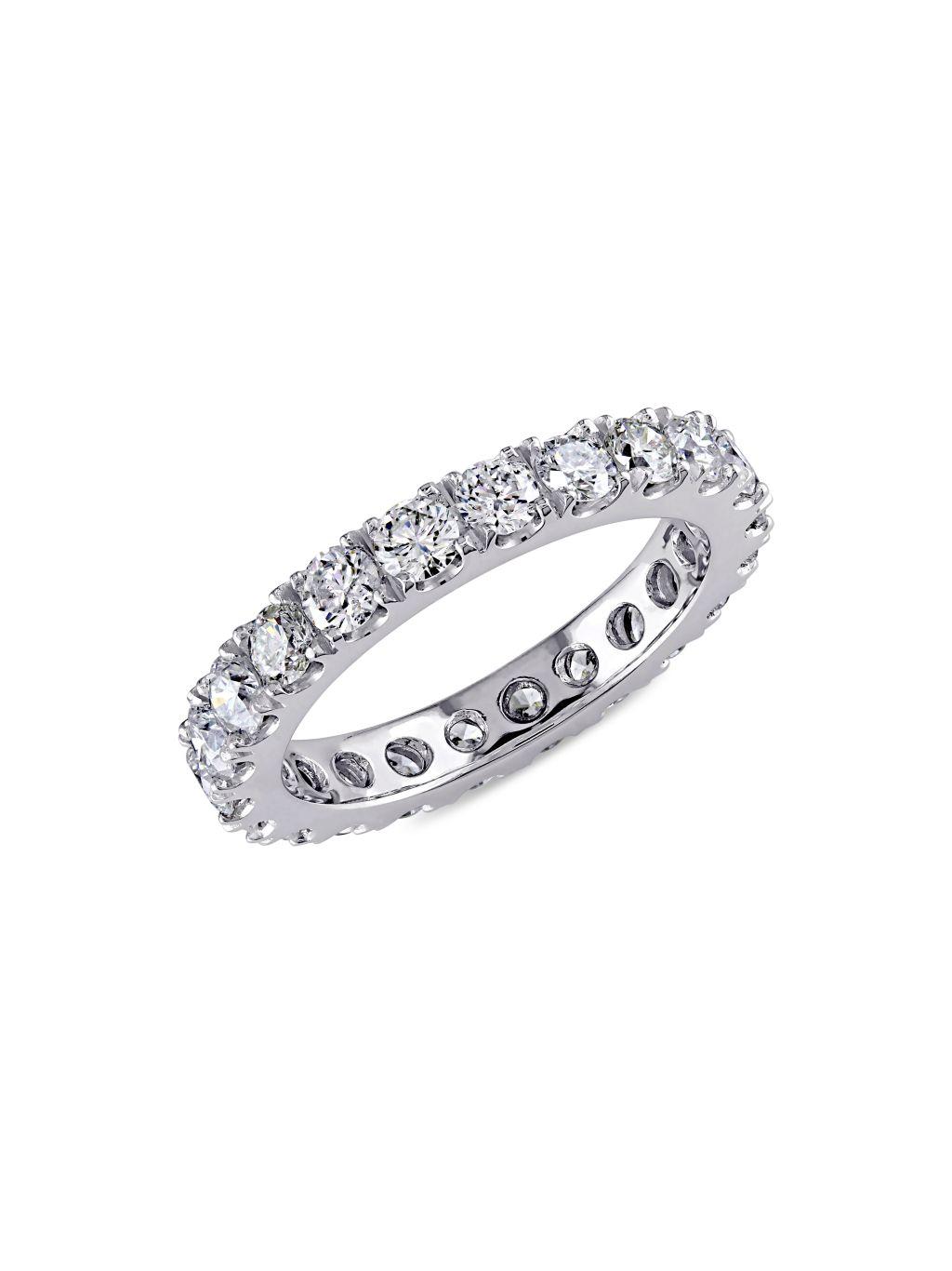 Saks Fifth Avenue 14K White Gold & Diamond Eternity Ring