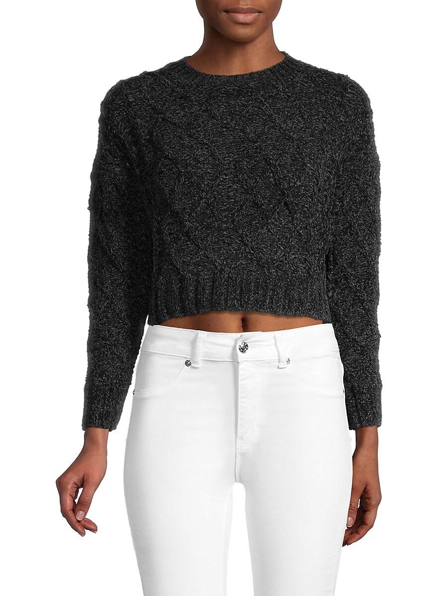 Women's Cropped Knit Sweater