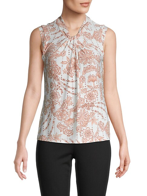 Tommy Hilfiger Tops FLORAL-PRINT SLEEVELESS TOP