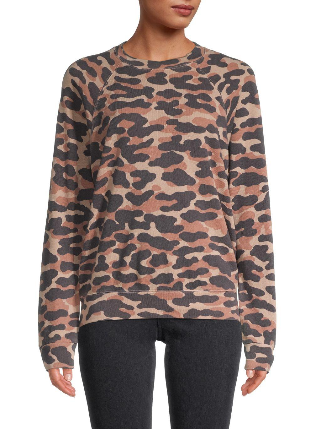Monrow Camo-Print Sweatshirt