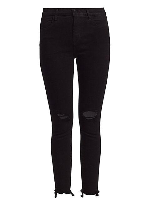 J Brand Women's Alana High-rise Distressed Crop Skinny Jeans In Veneration