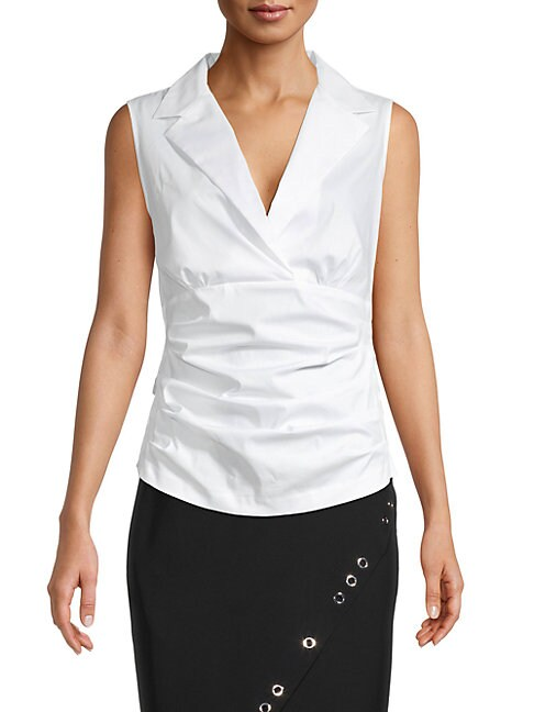 Donna Karan New York Notch Collar Tank
