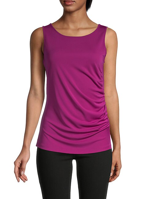 Donna Karan New York Side Drape Top