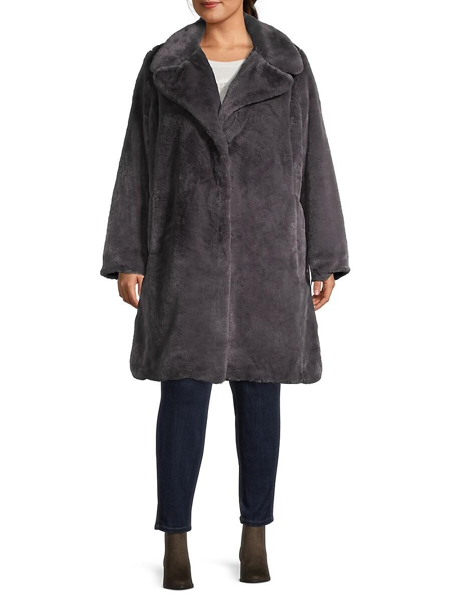 Women's Plus Faux Fur Coat