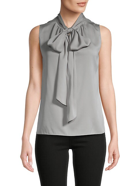 Theory The Scarf Tie Neck Top