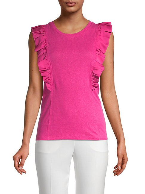 Bcbgmaxazria RUFFLED SLEEVELESS TOP