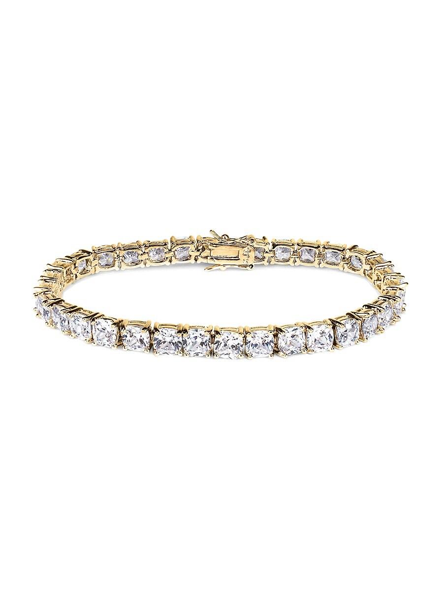 Women's Look Of Real 18K Goldplated & Crystal Tennis Bracelet