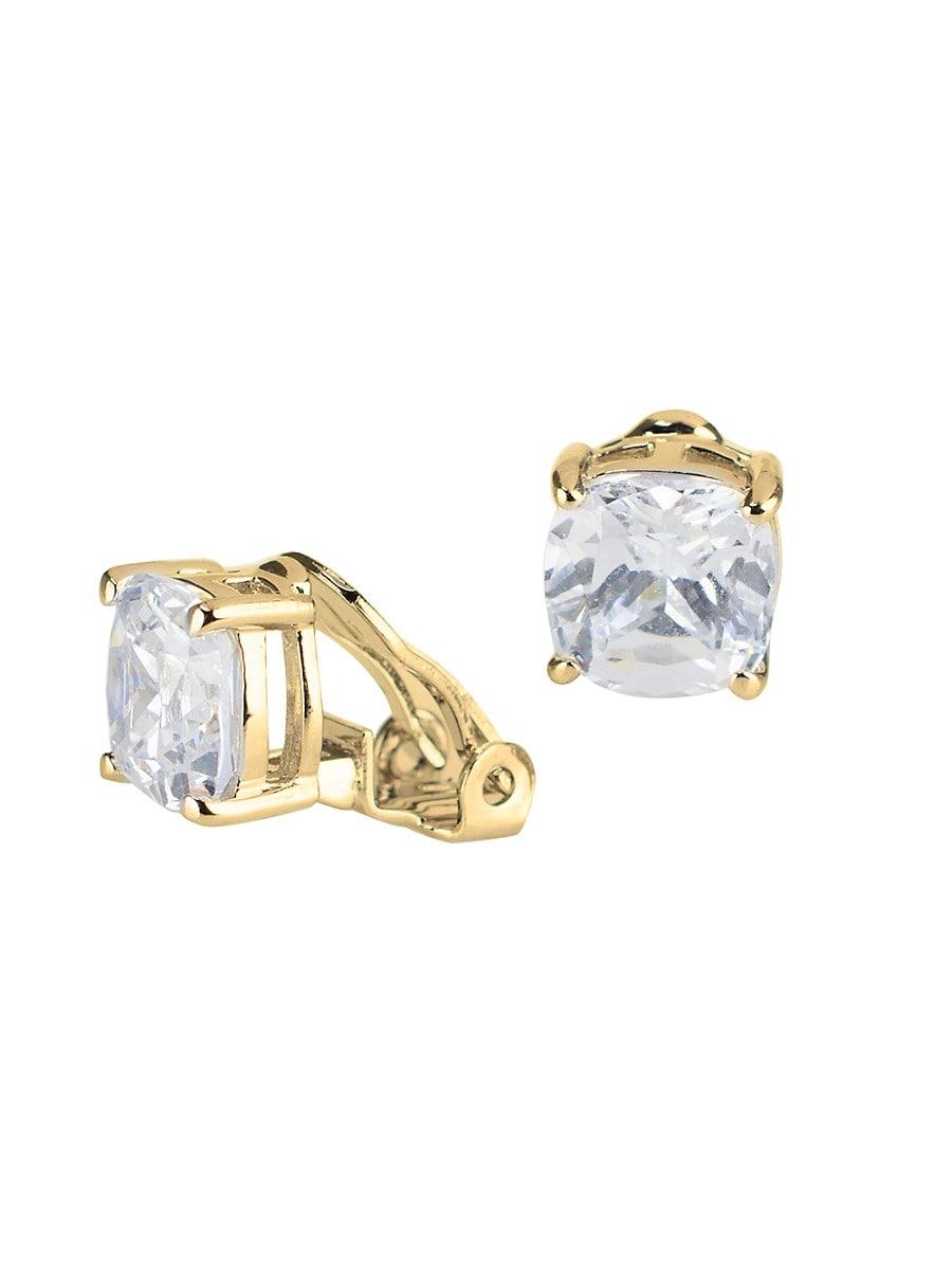 Women's Look Of Real Goldplated & Crystal Stud Earrings