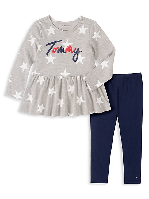 Tommy Hilfiger LITTLE GIRL'S 2-PIECE STAR-PRINT TUNIC & LEGGINGS SET