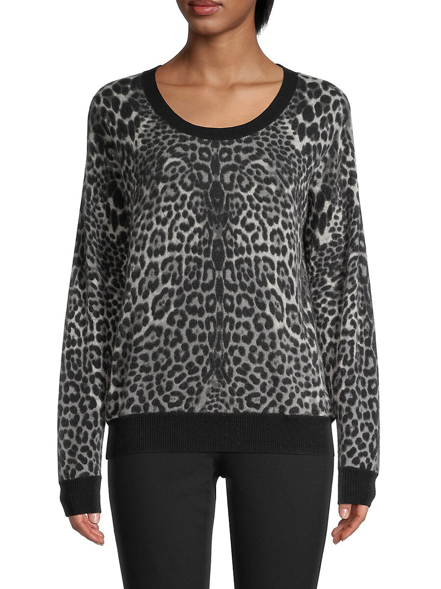 Women's Cheetah-Print Cashmere Sweater