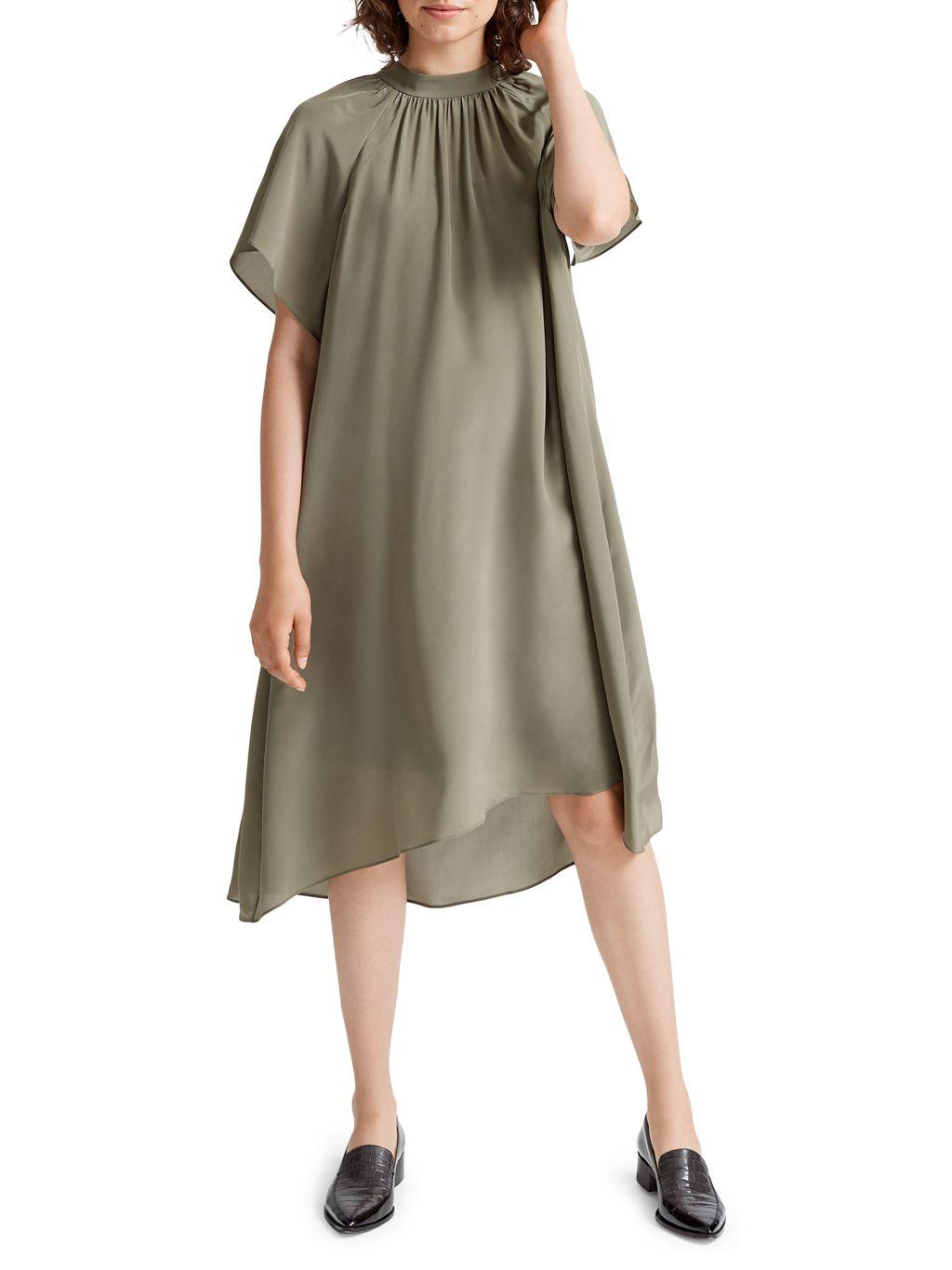 Club Monaco Silk Trapeze Dress