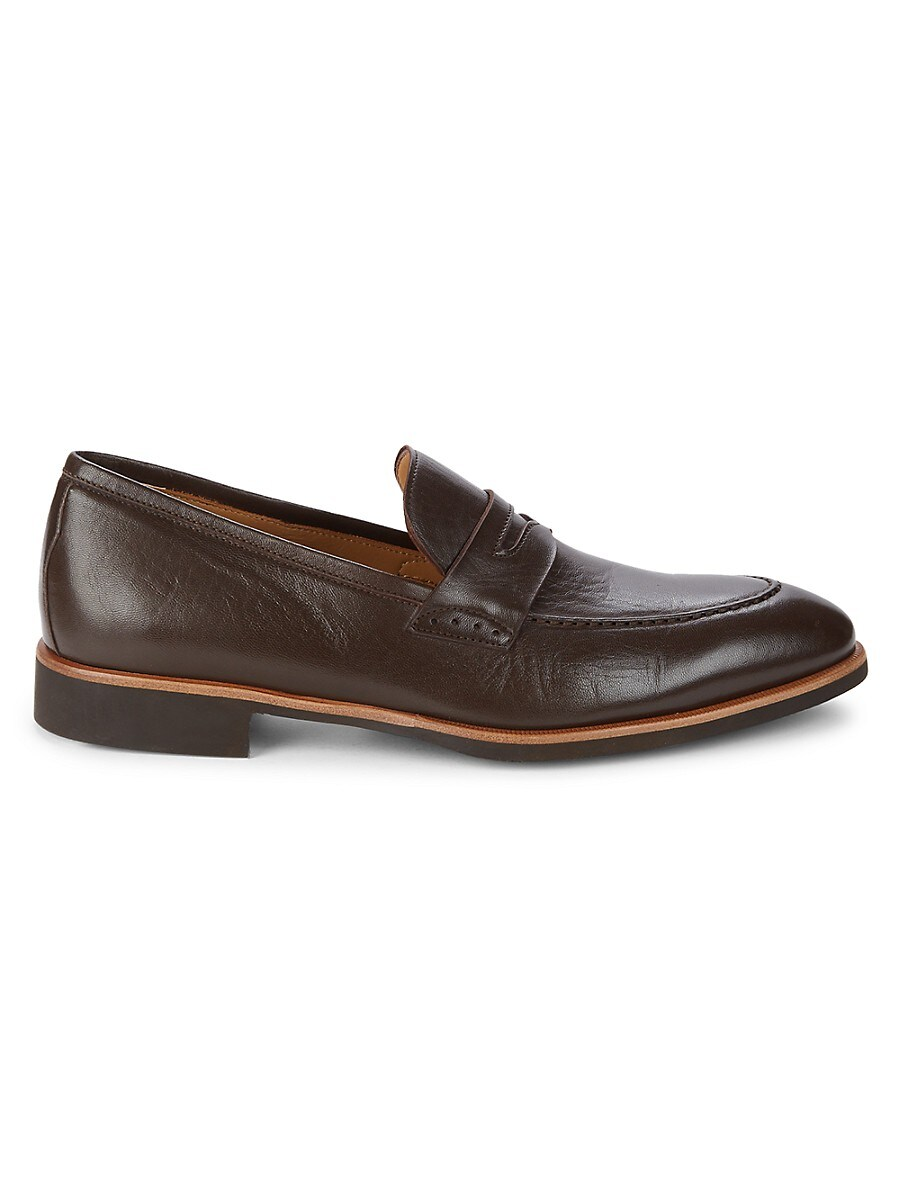 Leather & Suede Slip-On Loafers