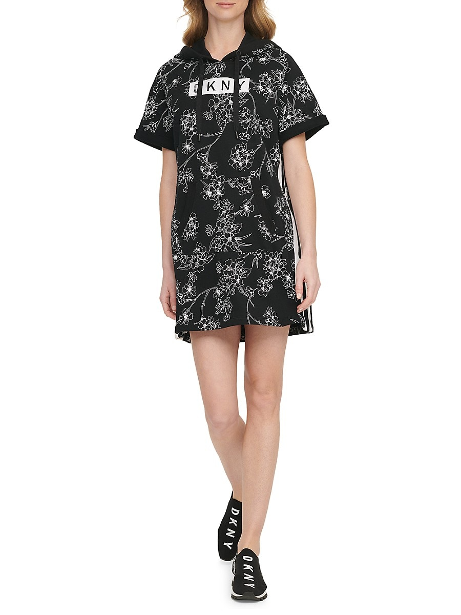 Women's Floral Hoodie Dress