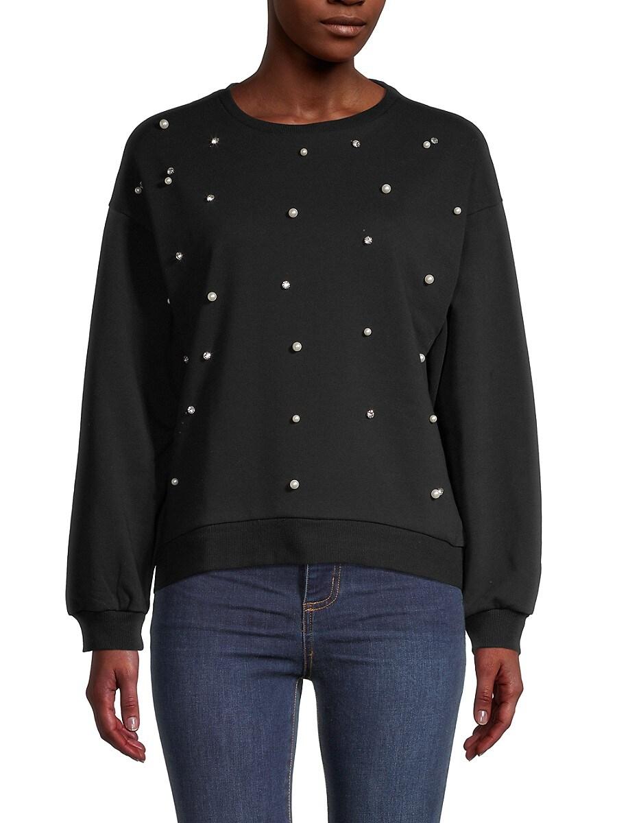 Women's Long-Sleeve Cotton-Blend Sweatshirt