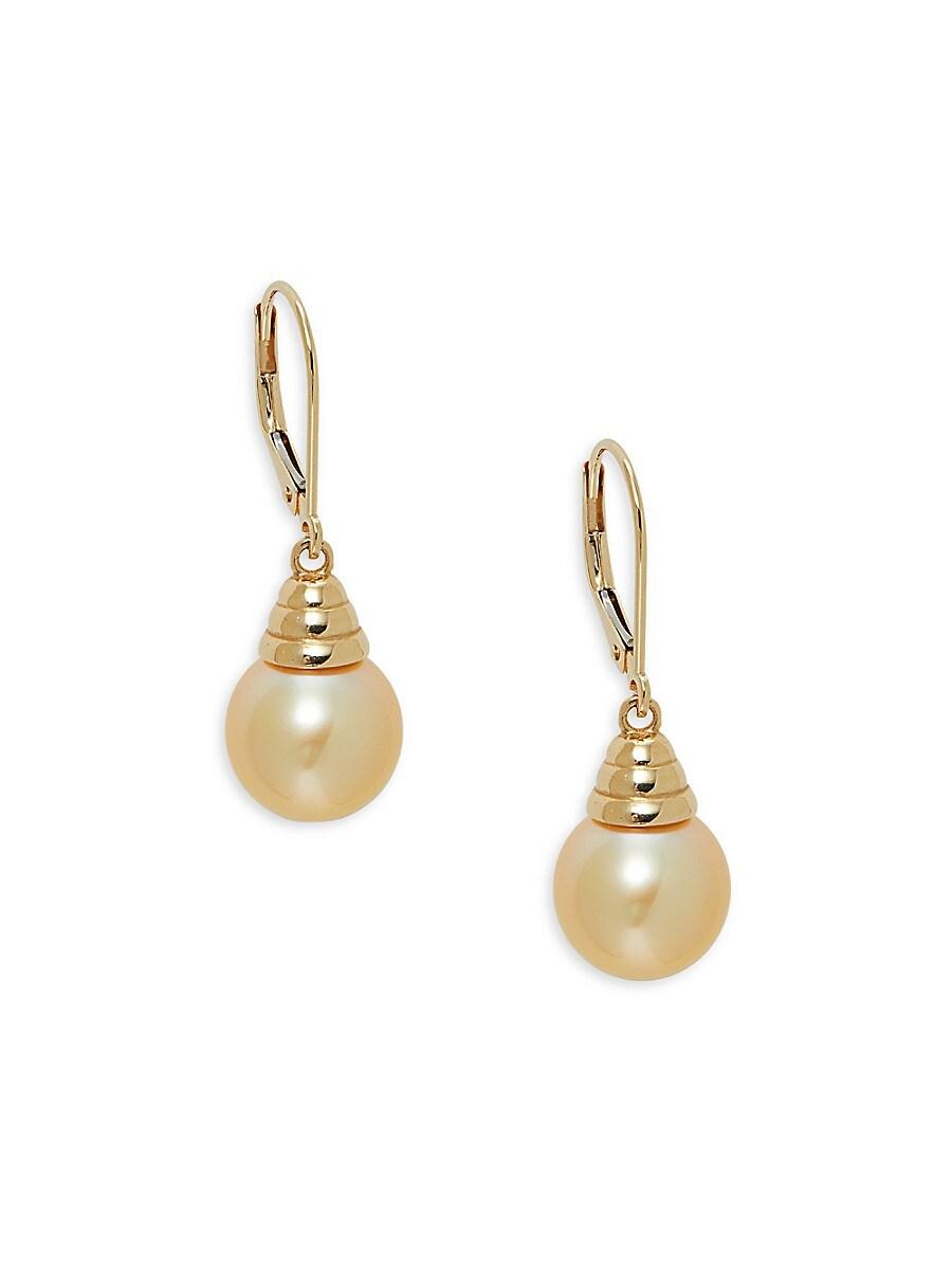 Women's 14K Yellow Gold & South Sea Cultured Pearl Drop Earrings