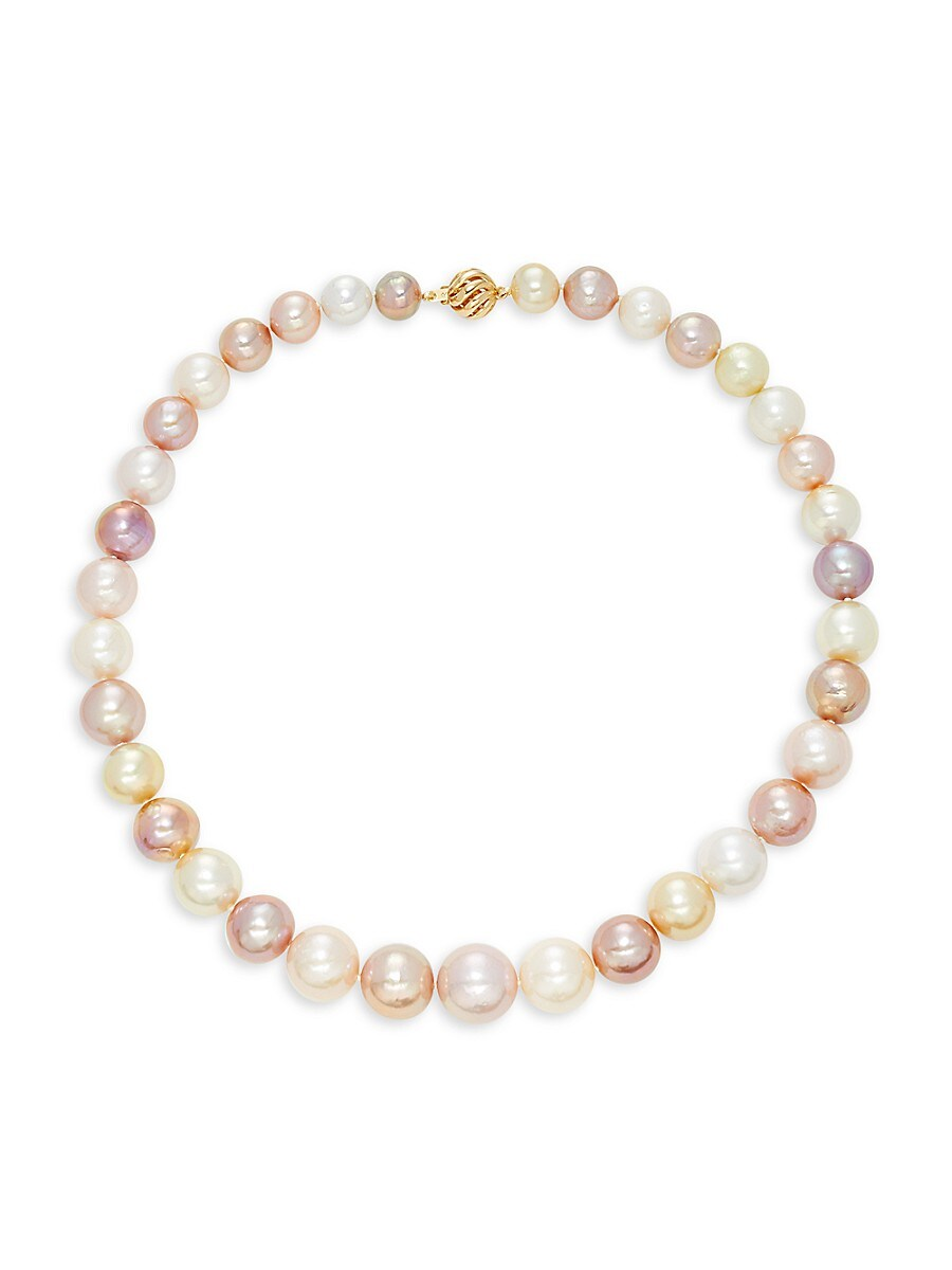 """Women's 14K Yellow Gold & 12-9MM South Sea & Kasumiga Cultured Pearl Necklace/18"""""""