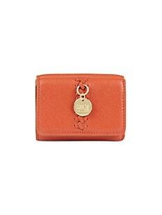 씨 바이 끌로에 See by Chloe Tilda Leather Tri-Fold Wallet,BRICK_RED