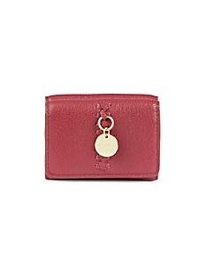 씨 바이 끌로에 See by Chloe Tilda Leather Tri-Fold Wallet,PLUM_PINK