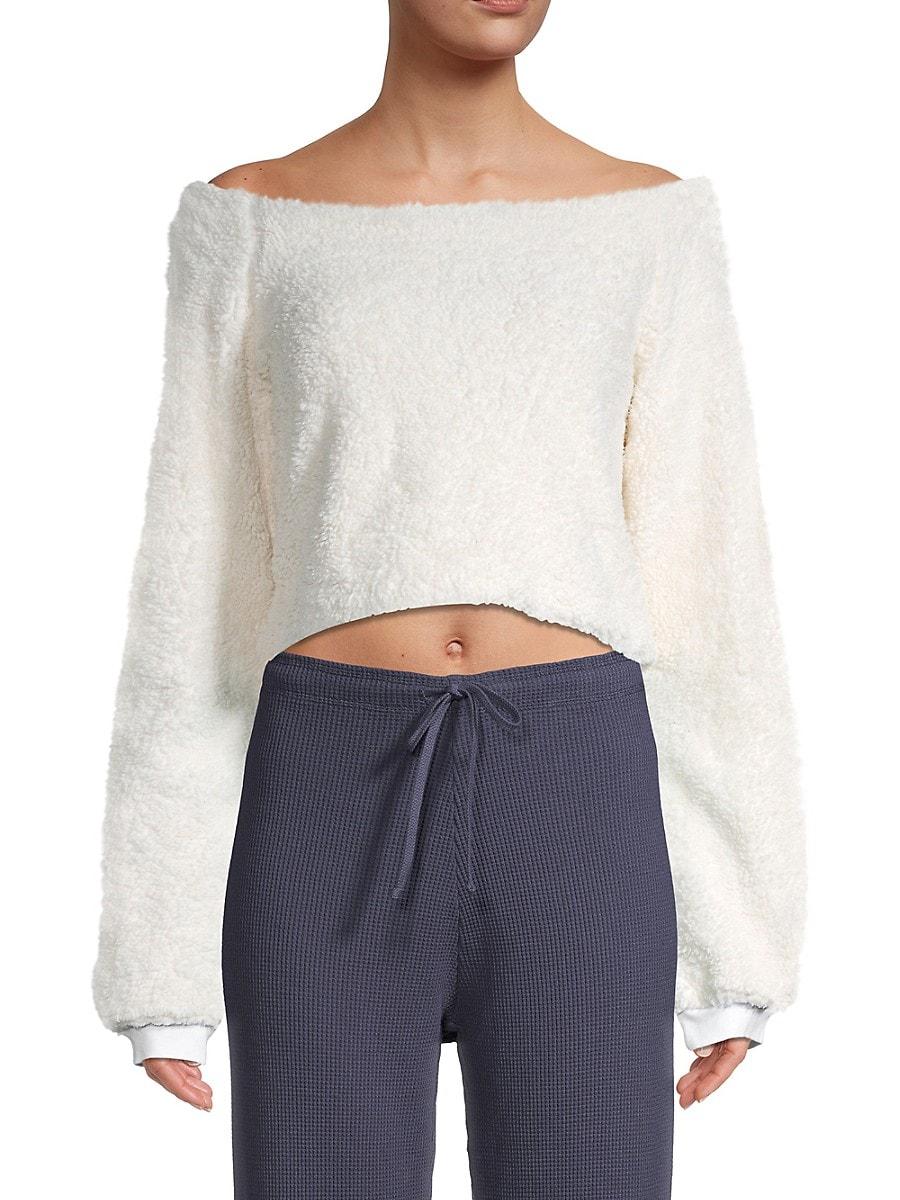 Women's Teddy Cropped Sweatshirt