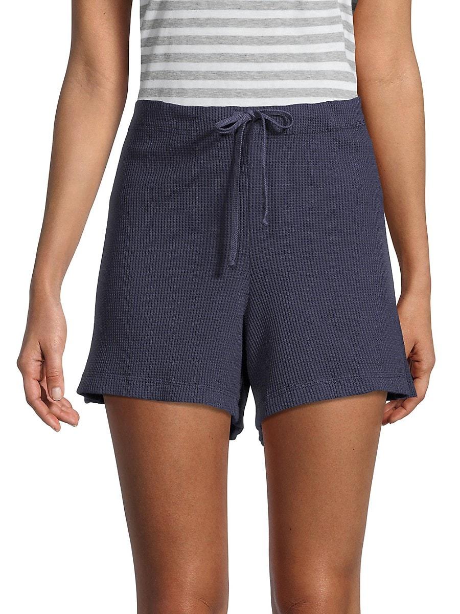 Women's Textured Cotton Shorts
