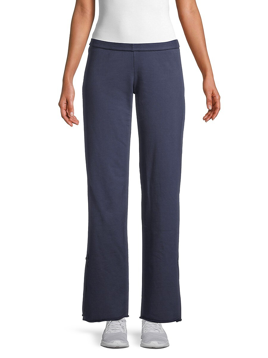 Women's Embroidered-Star Cotton Pants