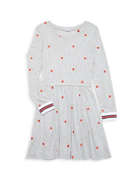 Splendid GIRL'S HEART-EMBROIDERED DRESS
