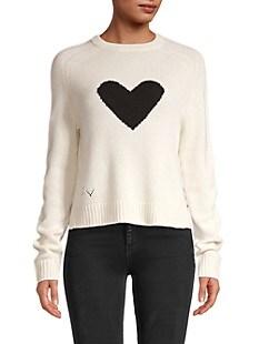 쟈딕 앤 볼테르 릴리 하트 캐시미어 스웨터 Zadig & Voltaire Lili C Heart Cashmere Sweater,CHALK