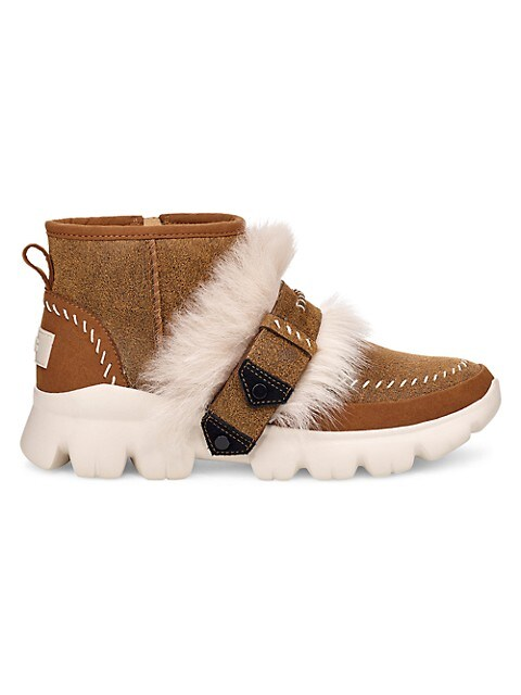 UGG  Lamb Fur Suede Ankle Boots $49.99 (72% OFF)