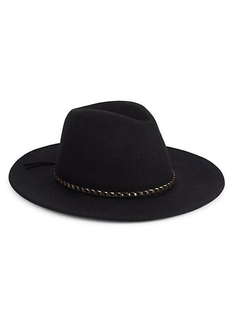 San Diego Hat Company Wool Felt Hat In Black