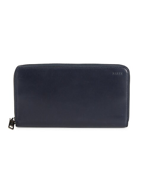 Bally Tallen Zip-around Leather Wallet In Blue