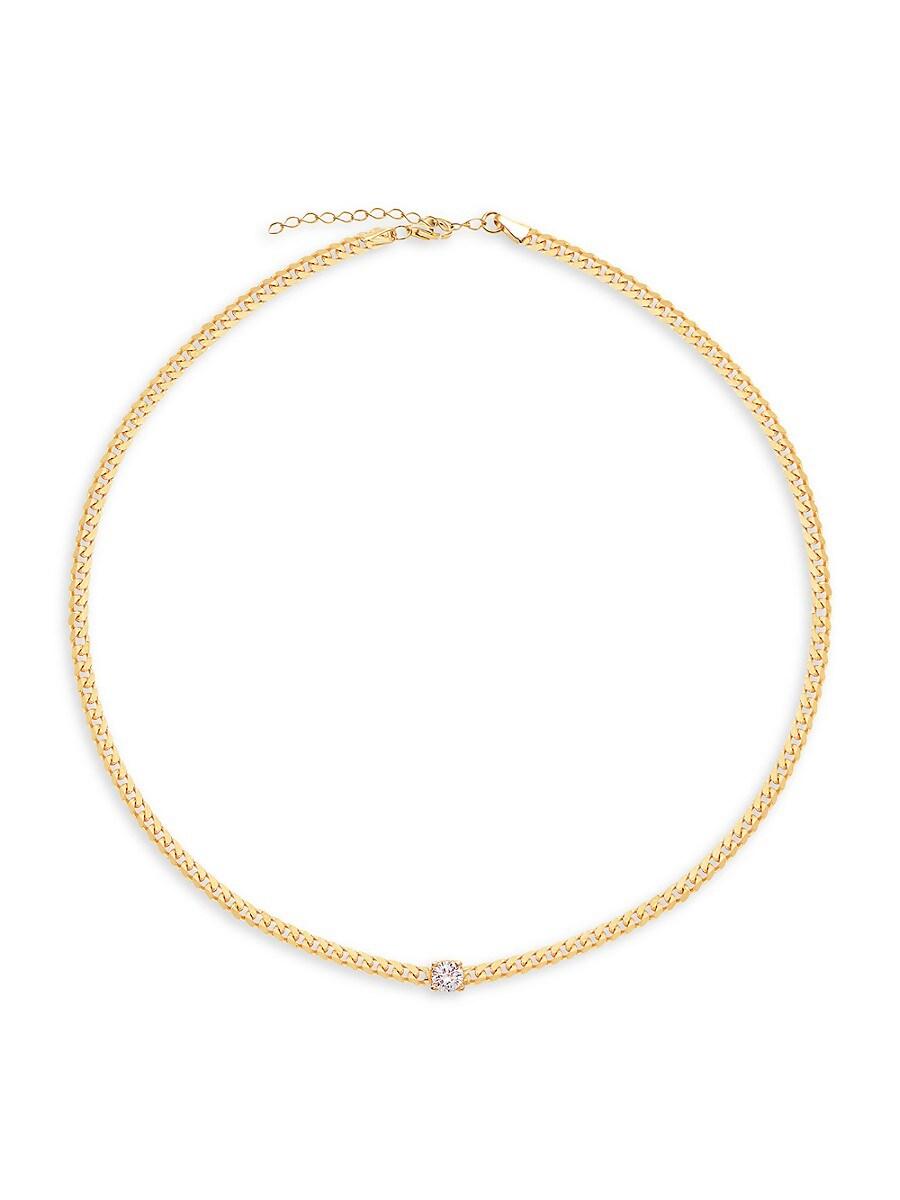 Women's Celebration 14K Gold Vermeil & Crystal Solitaire Choker Necklace