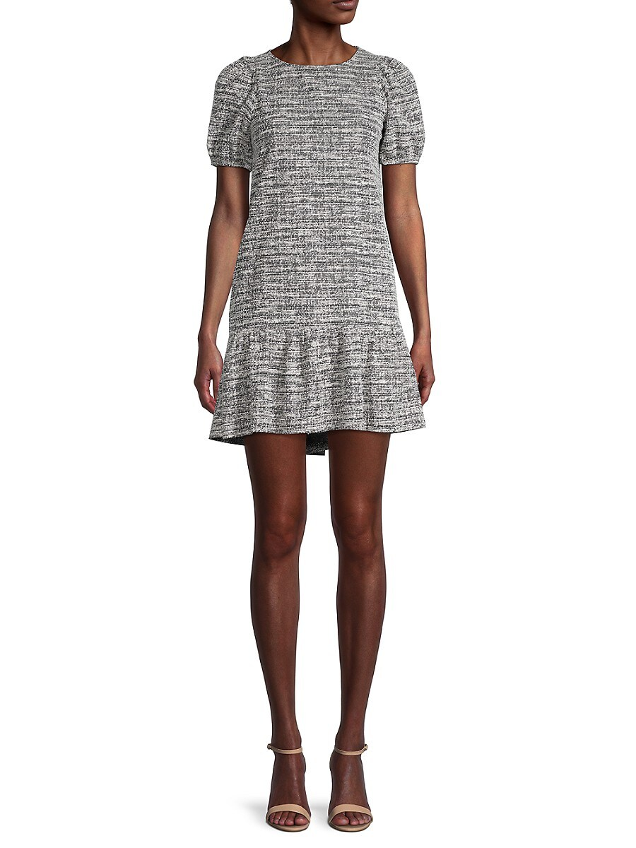 Women's Puffed-Sleeve Mini Dress
