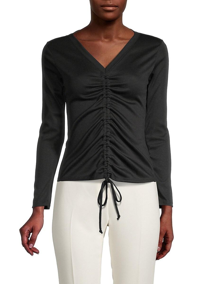 Women's Cinch Tie Long-Sleeve Top