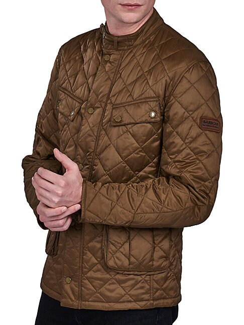 Barbour Quilted Jacket In Dark Sand