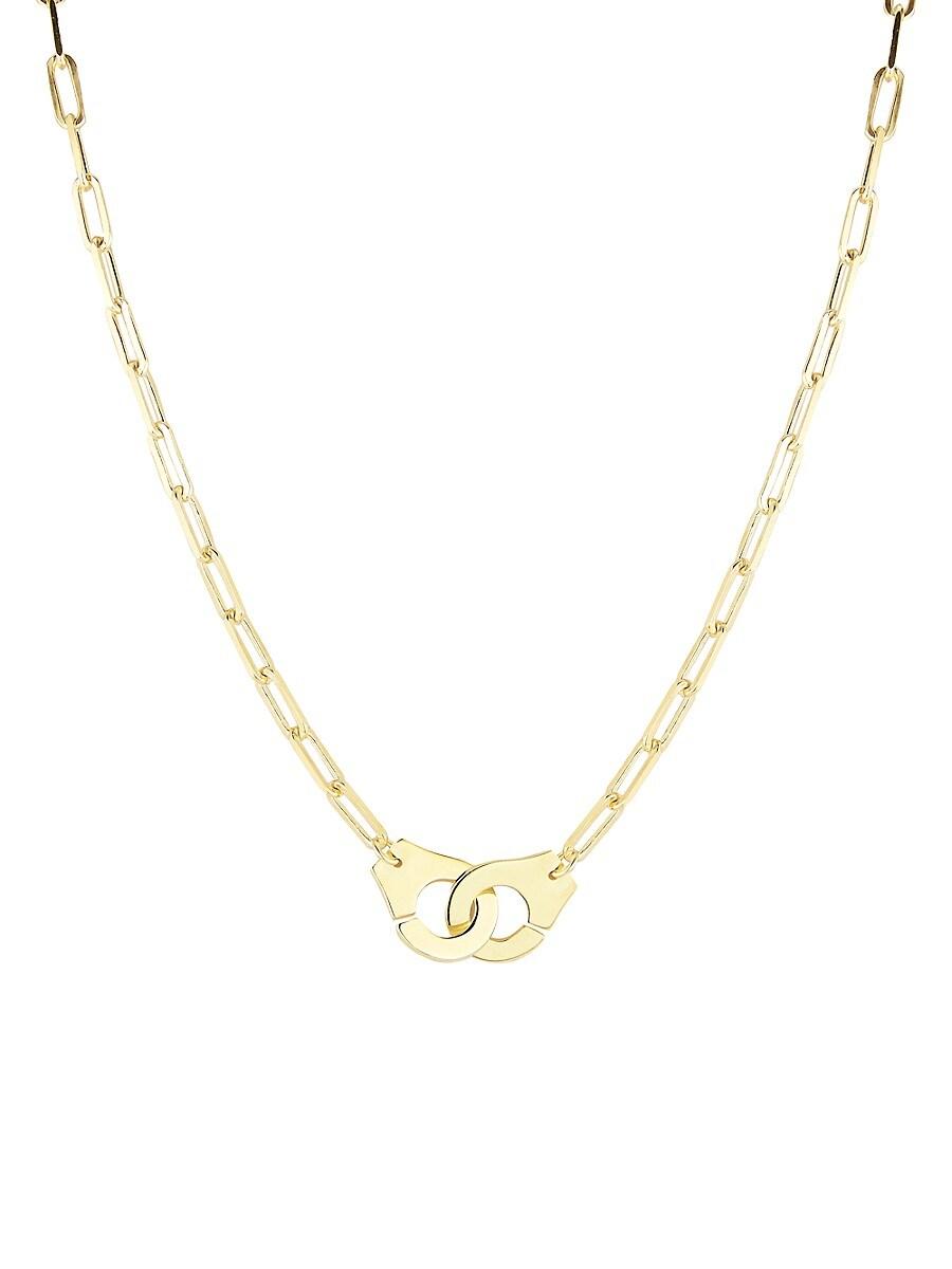 Women's 14K Yellow Gold Vermeil Handcuff Pendant Necklace