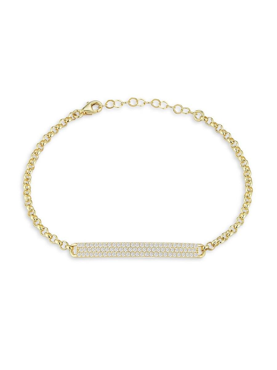Women's 14K Gold Vermeil & Cubic Zirconia Bar Bracelet