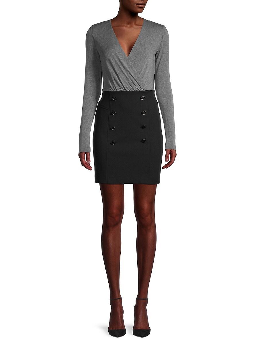 Women's Long-Sleeve Sheath Dress