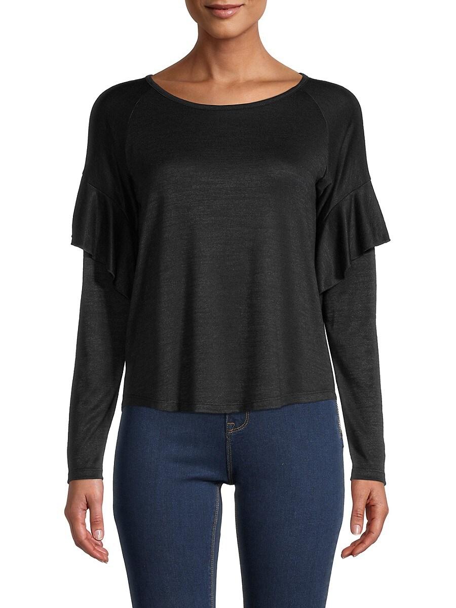 Women's Ruffled Long-Sleeve Top