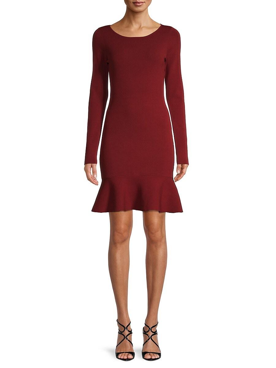 Women's Tara Long-Sleeve Ruffle-Hem Dress