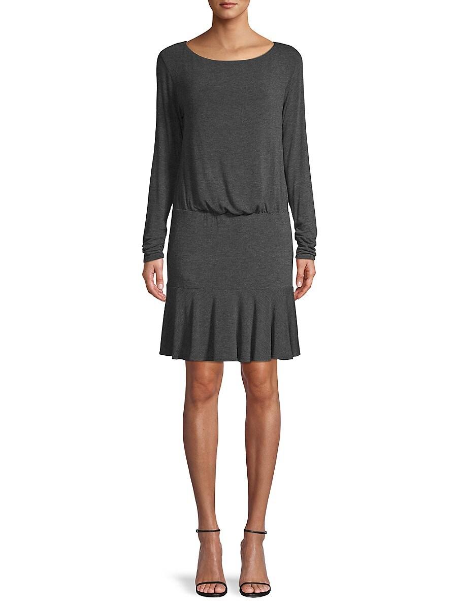 Women's Long-Sleeve Ruffled Dress