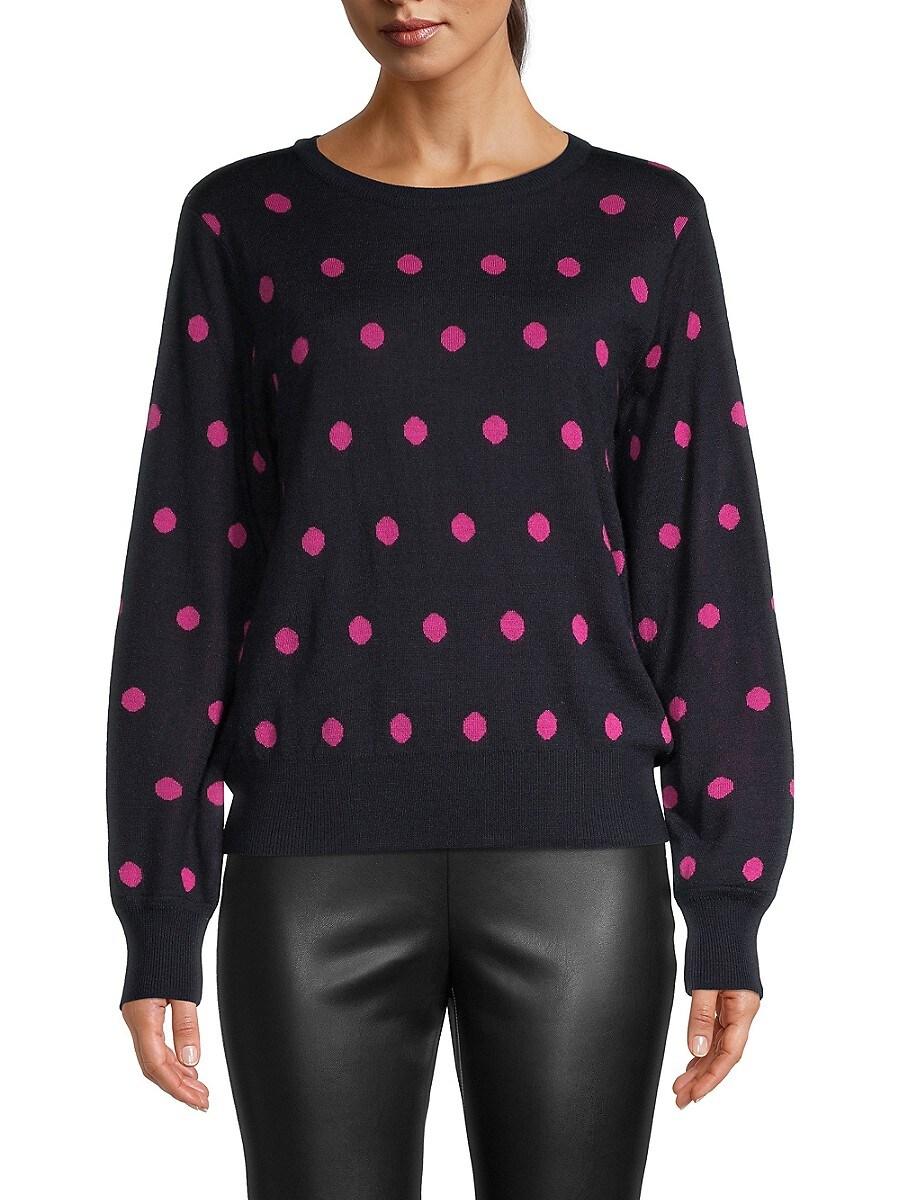 Women's Polka Dot Wool-Blend Sweater