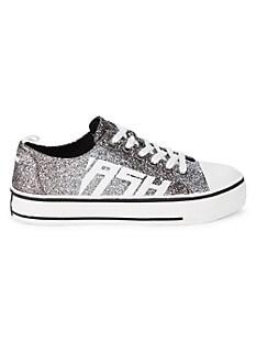 아쉬 스니커즈 ASH Vanda Glitter Platform Sneakers,BLACK SILVER